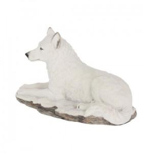 Statuetă lup alb Umbra albă