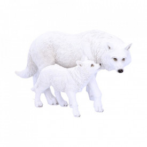 Statueta lupi Descendentii iernii 27 cm