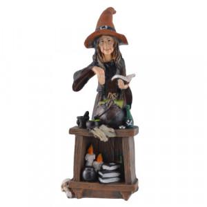 Statueta Vrajitoarea si cazanul ei magic 24 cm