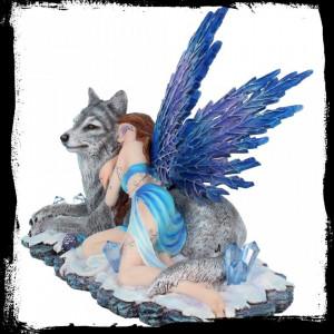 Statueta zana si lup Lupiana 34 cm