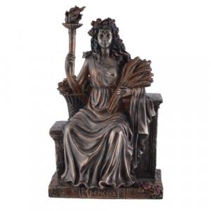 Statueta zeita agriculturii Demetra 23cm