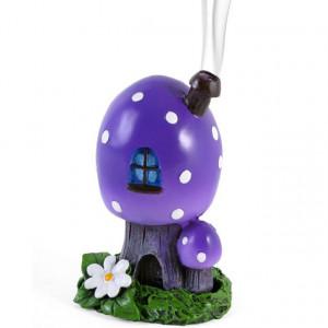 Suport conuri tamaie Casa din Ciuperca - violet 12.5cm