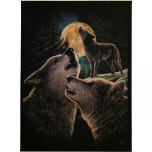 Tablou canvas Cantecul Lupilor 19x25cm - Lisa Parker