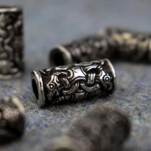 Bijuterii vikinge pentru barba/par Corbii lui Odin