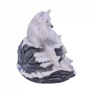 Calendar perpetuu pentru birou lupi albi Veghea Mamei 13 cm