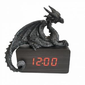 Ceas digital de birou Dragon Culcat