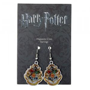 Cercei placati argint licenta Harry Potter Casele de la Hogwards