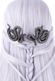 Gothic Hair Clip Set - Snakes