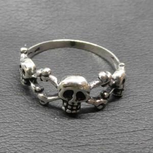 Inel argint Cranii de pirat