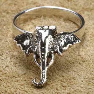 Inel argint Poison Ring Elefant