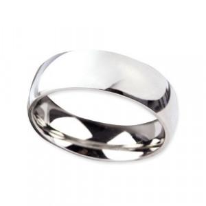 Inel otel inoxidabil stil verigheta 7 mm argintiu lucios