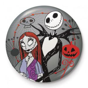 Insigna licenta Nightmare Before Xmas - Jack & Sally