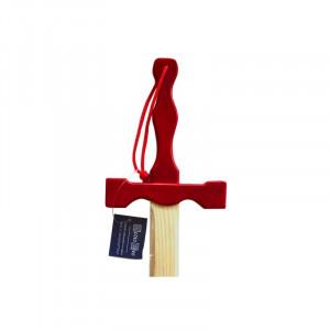 Jucarie - Sabie lemn Excalibur cu maner rosu 56cm