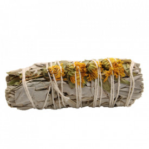 Manunchi Salvie Alba si Floarea Soarelui pentru fumigatii 10cm