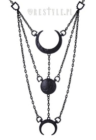 Moon Phases Black Necklace