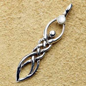 Pandantiv argint Zeita lunii cu nod celtic
