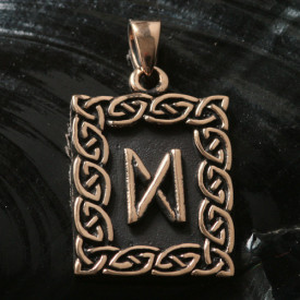 Pandantiv bronz runa Dagaz