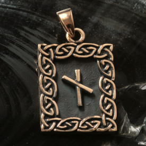 Pandantiv bronz runa Nauthiz