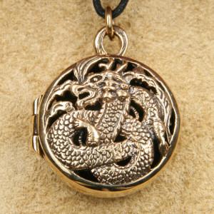 Pandantiv medalion bronz pentru poza Dragon
