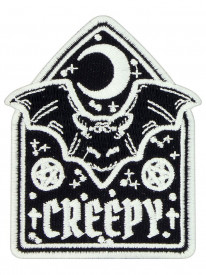 Petic textil decorativ / Patch brodat Creepy Bat