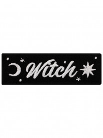 Petic textil decorativ / Patch brodat Witch