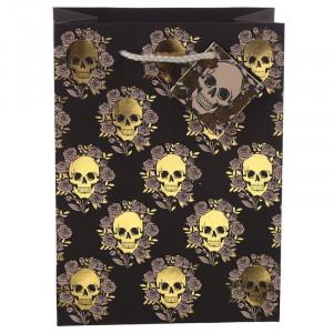 Punga cadou gotica Craniu cu Trandafiri - Medie