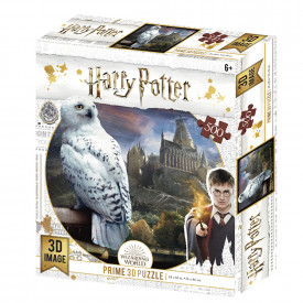 Puzzle Lenticular 500 piese Harry Potter Hedwig