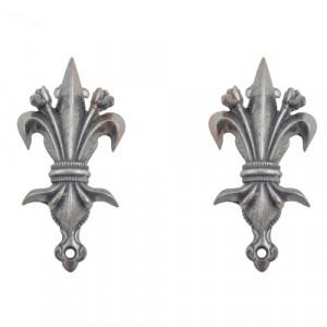 Set 2 suporturi pentru haine Fleur-de-Lis 9cm