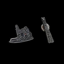 Set doua insigne de colectie Lord Of The Rings - Helm's Deep & Orthanc