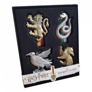 Set patru ornamente licenta Harry Potter - Casele Vrajitoresti