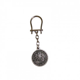 Silver plated keychain The Templars' Sigil -The Two Horsemen
