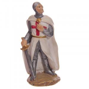 Statuetă cavaler medieval Cruciat 8 cm