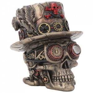 Statueta craniu Baronul Steampunk