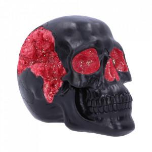 Statueta craniu Geode - rosu 17 cm