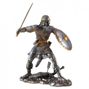 Statueta metal Razboinic viking 12cm