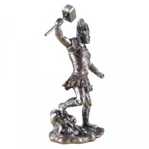 Statueta metal zeu nordic Thor 11cm