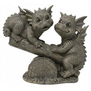 Statueta pentru gradina Dragonei distrandu-se 35 cm