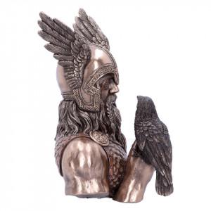 Statueta zeul nordic Mesagerii lui Odin