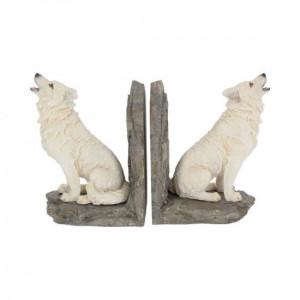 Suport lateral de cărți cu lupi - book end- Gardienii nordului
