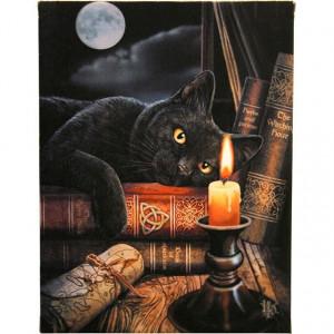 Tablou canva pisica neagra Ora Vrajitoarelor 19x25cm - Lisa Parker