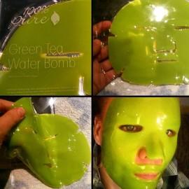 Masca faciala cu apa si ceai verde