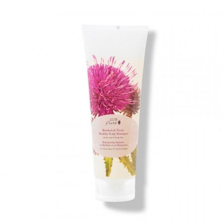 Şampon cu brusture & neem pentru un scalp sanatos