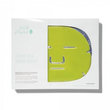 Masca faciala cu apa si ceai verde (pachet cu 5 bucati)