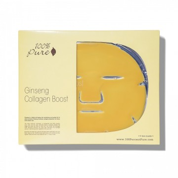 Masca faciala cu ginseng si colagen (pachet 5 bucati)