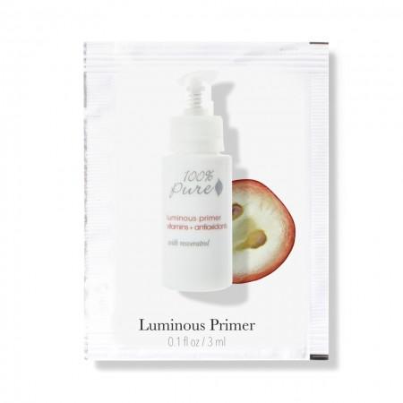 Bază de machiaj cu efect de luminozitate cu vitamine, antioxidanţi si resveratrol - mostra 1,5 ml