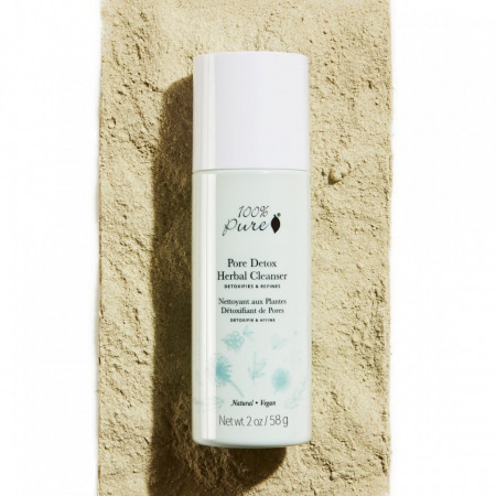 Pudră de curățare pe bază de plante, cu efect de detoxifiere a porilor