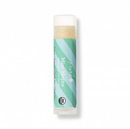 Balsam organic de buze cu aromă de mojito cu mentă