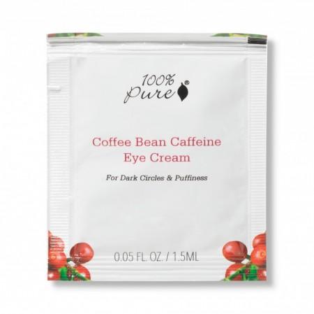 Plic cremă pentru ochi cu cafeină extrasă din boabe de cafea organică – 1,5 ml