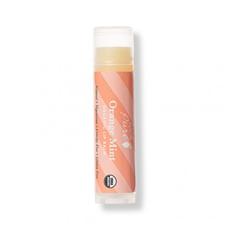 Balsam organic de buze - aroma de portocale si menta