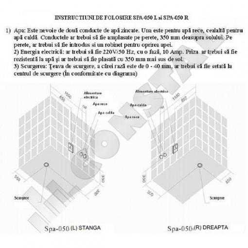 CADA CU HIDROMASAJ SPA-050 STANGA
